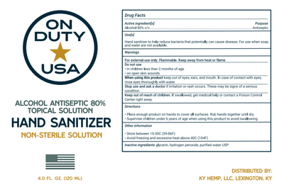 On Duty USA Hand Sanitizer      (2-pack)