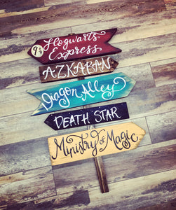Directional Sign (2.5hrs) $75