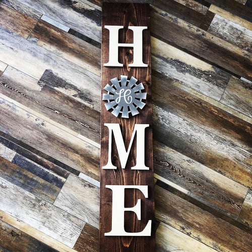 HOME Porch sign (Interchangeable feature)