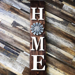 HOME Porch sign w/Interchangeable feature (2.5hrs) $65