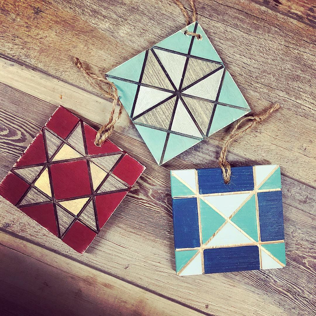 Barn Quilt - Mini Ornament