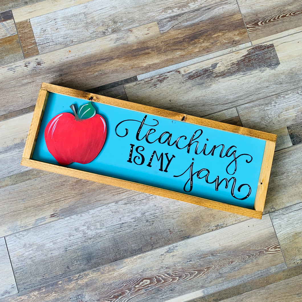 An Apple for the Teacher Wood Sign