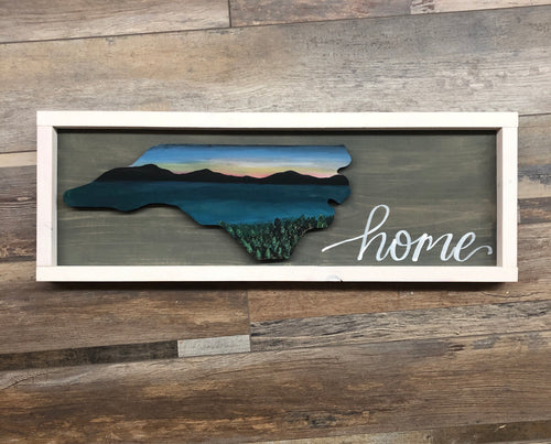 NC - Original Framed Sign (2.5hrs) $47