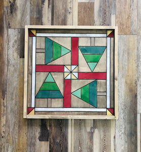 "Barn Quilt - Holiday Trees (Large) 25""x25"""