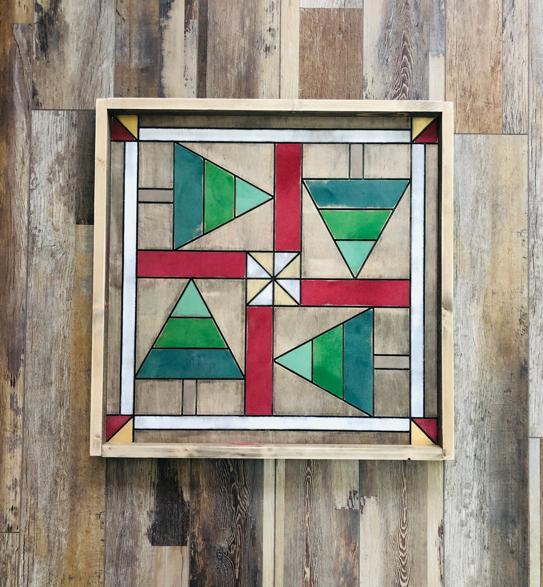 Barn Quilt - Holiday Trees (Large) 25