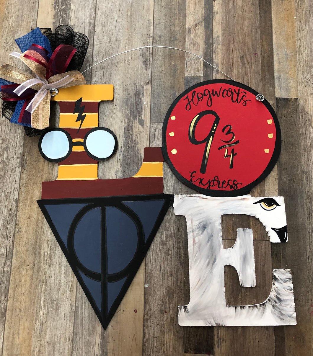 Harry Potter - LOVE doorhanger (2.5hrs) $45