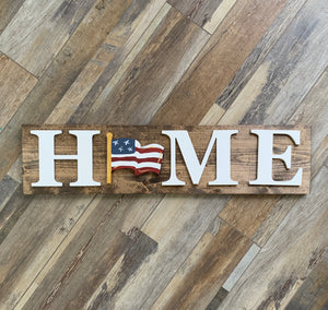 HOME- Interchangeable Sign