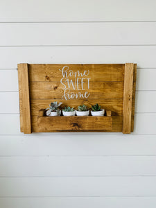 Succulent Planter Wall Decor *WITH SUCCULENTS* (2.5hrs) $64.99