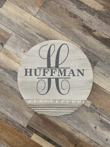 Monogram/Name Round (2hrs) $55