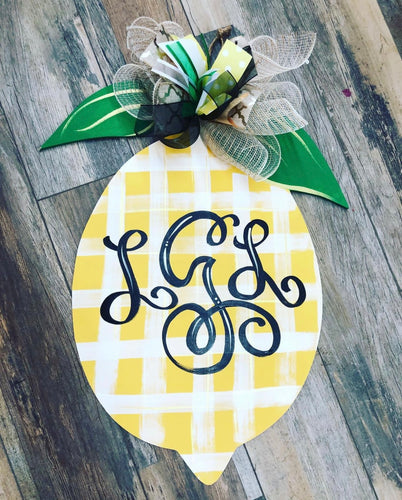 Doorhanger - Lemon (2hrs) $45.00