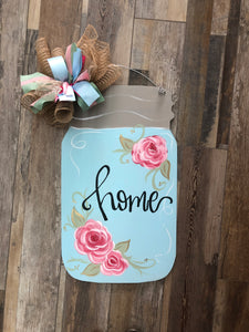 Doorhanger - Mason Jar (2hrs) $43.50