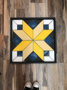 Date Night - Starburst Barn Quilt (Large)