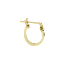 Load image into Gallery viewer, 14k Gold Lucky Hoop