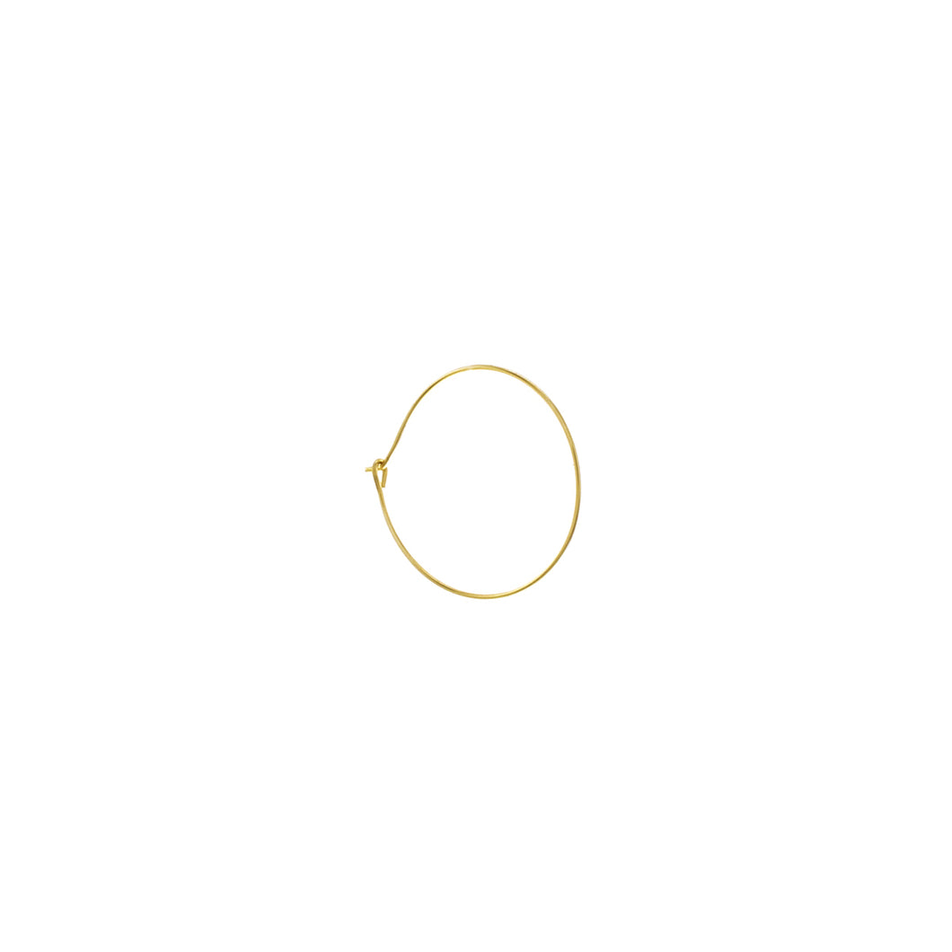GOLD THIN HOOP