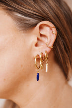 Load image into Gallery viewer, GOLD EARRING CHARM LAPIS