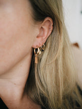 Load image into Gallery viewer, GOLD EARRING CHARM SEQUIN