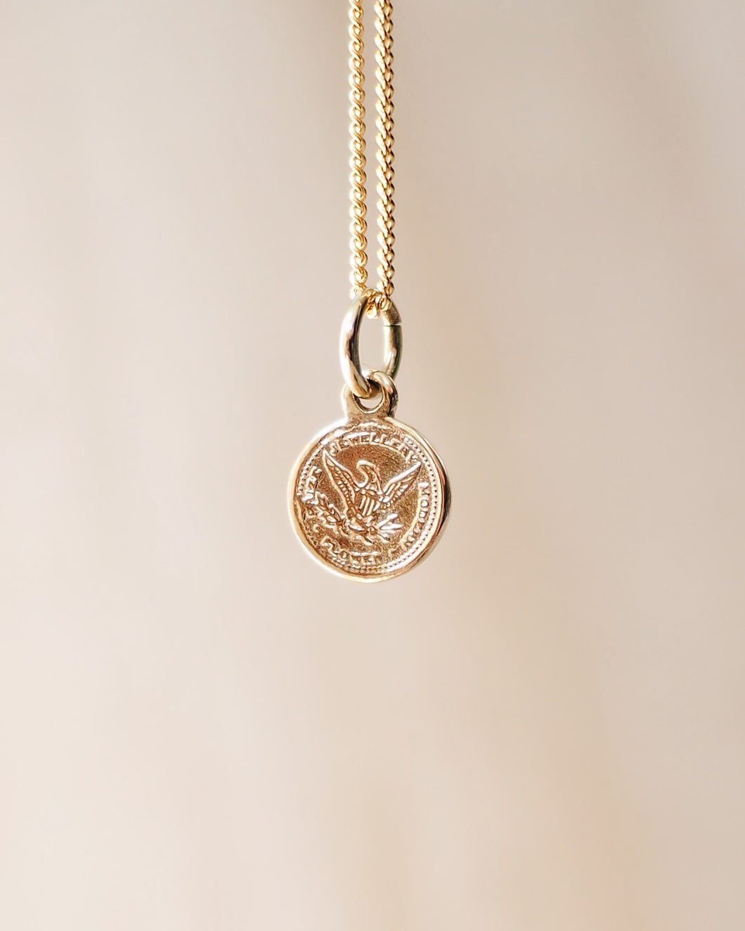 Gold Coin Charm