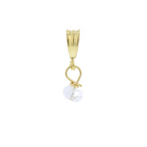 GOLD NECKLACE CHARM APRIL DIAMOND