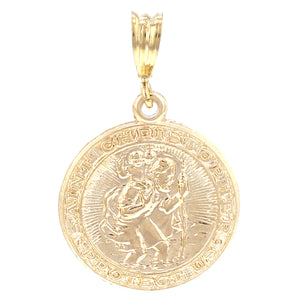 GOLD NECKLACE CHARM GUARDIAN OF THE TRAVELLERS