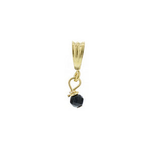 GOLD NECKLACE CHARM ONYX