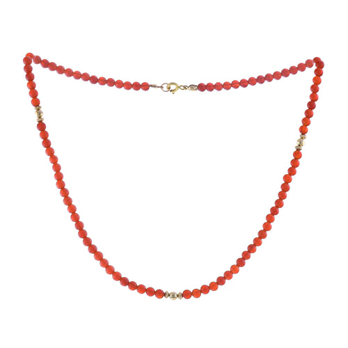 GOLD GROUNDING CARNELIAN NECKLACE