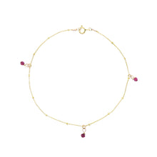 Load image into Gallery viewer, GOLD GALAXY RUBY ANKLET
