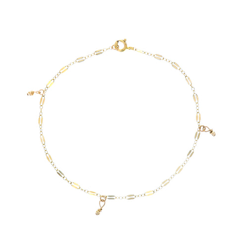 GOLD MIDNIGHT BEAD ANKLET