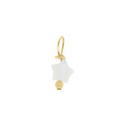 GOLD EARRING CHARM FALLING STAR