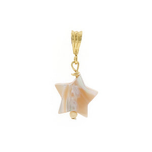 GOLD NECKLACE CHARM FALLING STAR