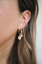 Load image into Gallery viewer, GOLD EARRING CHARM OCTOBER OPAL