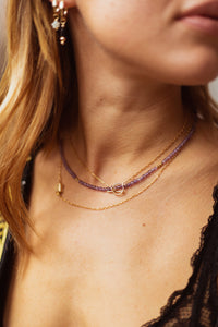 GOLD SOOTHING AMETHYST NECKLACE