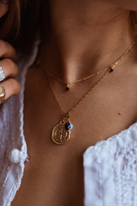 GOLD NECKLACE CHARM YIN YANG