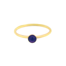 Load image into Gallery viewer, GOLD MINI LAPIS LAZULI RING