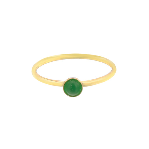 GOLD MINI GREEN ONYX RING