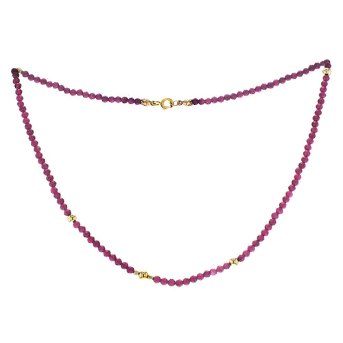 GOLD QUEEN RUBY NECKLACE