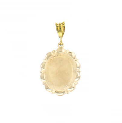 GOLD NECKLACE CHARM FLORAL