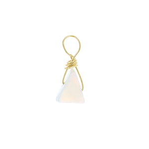 GOLD EARRING CHARM OCTOBER OPAL