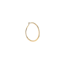 Load image into Gallery viewer, GOLD HAMMERED HOOP