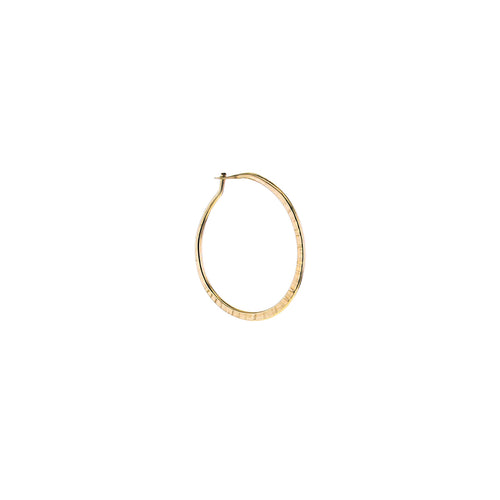 GOLD HOOP HAMMERED