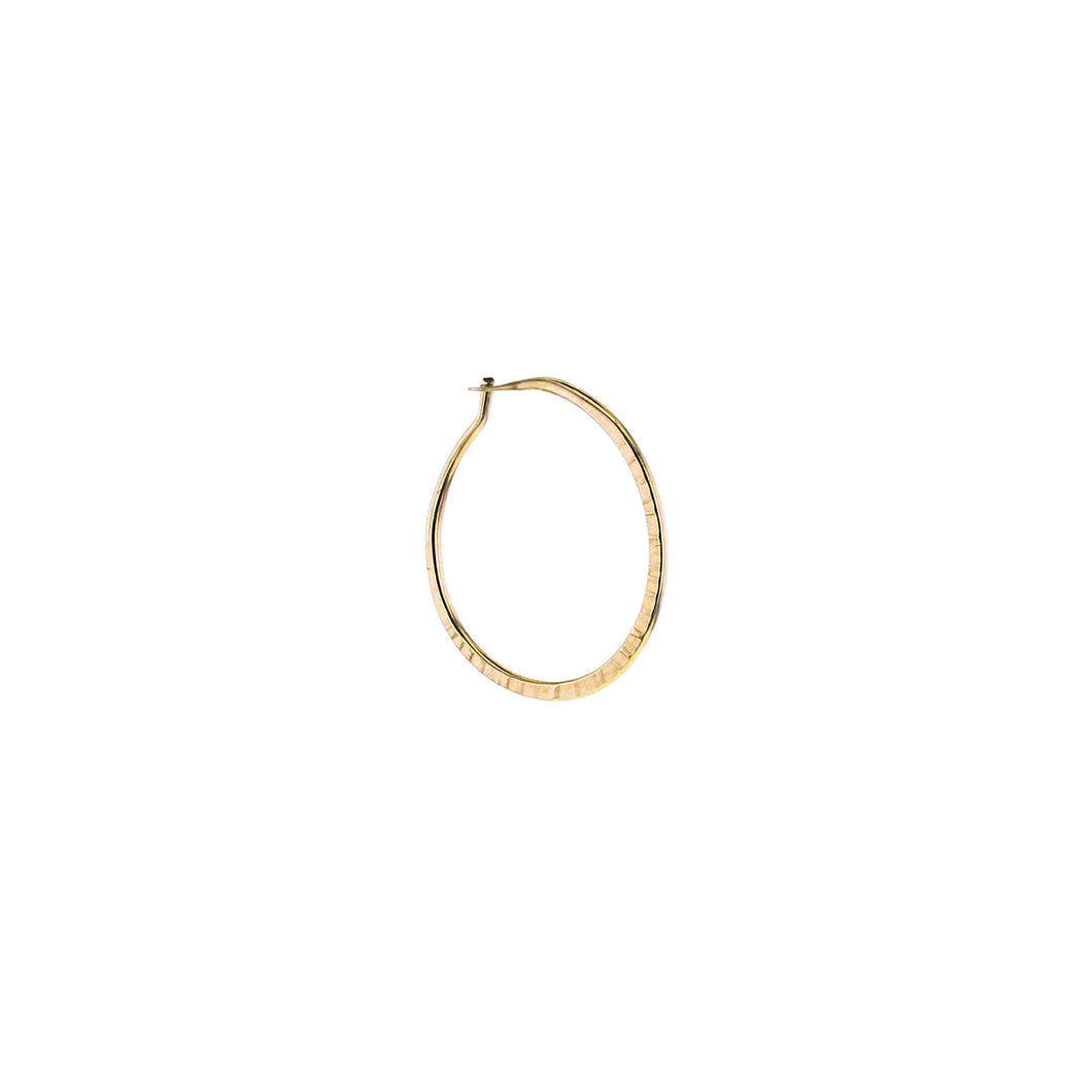GOLD HAMMERED HOOP