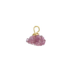 GOLD EARRING CHARM JULY RUBY
