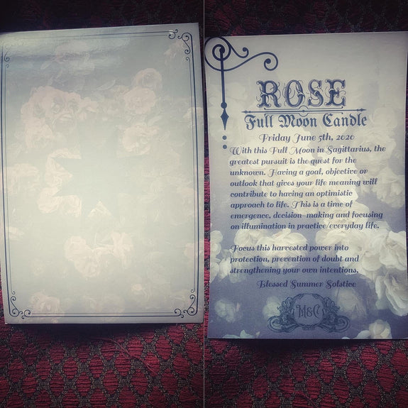 Rose Full Moon Candle