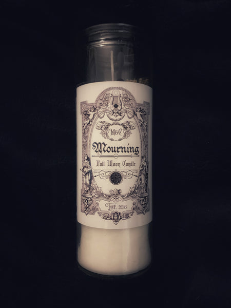 November Mourning Full Moon Candle