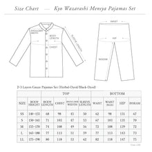 Load image into Gallery viewer, Herbal-dyed 2 Layers Gauze Pajamas Set Charcoal Grey  [Kyo Wazarashi Mensya]