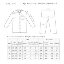 Load image into Gallery viewer, Persimmon-dyed 2 Layers Gauze Pajamas Set [Kyo Wazarashi Mensya]