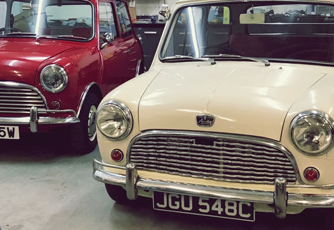 Classic mini ready for driving experience