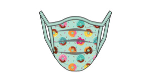 PRINTED DONUT - KIDS - ACCORDION PROTECTIVE MASK