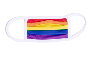 RAINBOW PRIDE - ACCORDION MASK W/FILTER POCKET