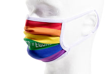 Load image into Gallery viewer, RAINBOW PRIDE - ACCORDION MASK W/FILTER POCKET