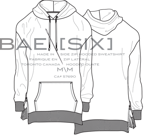 MEN'S DROP SHOULDER HOODIE W/ SIDE ZIPS